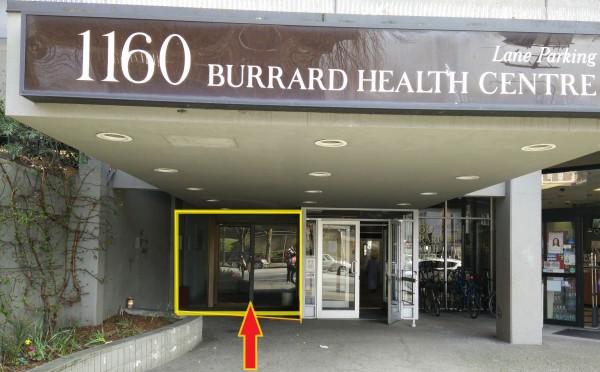 Enterance to #808 1160 Burrard St.